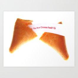 Chinese Food? Art Print