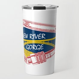 New River Gorge Climbing Carabiner Travel Mug