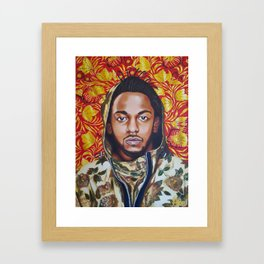 Kendrick Lamar Floral 'A Celebration of Hip Hop' Acrylic Painting Framed Art Print