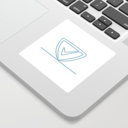 Shield With Check Mark Continuous Line Sticker