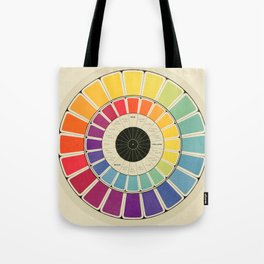 Color Wheel Spinner Tote Bag