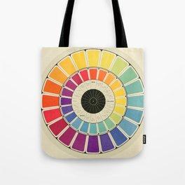 Color Wheel Spinner Tote Bag