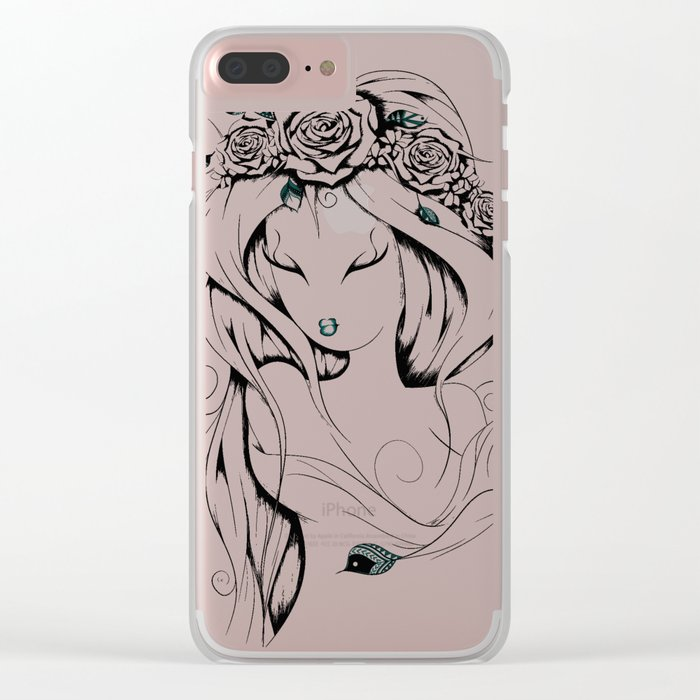 Poetic Gypsy Clear iPhone Case