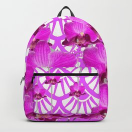 PURPLE ART DECO PATTERN ORCHIDS PATTERN ABSTRACT Backpack