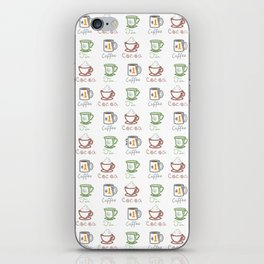 Hot Drinks (Color) iPhone Skin