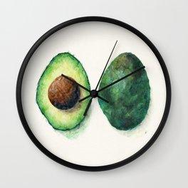 Avocado Split Wall Clock