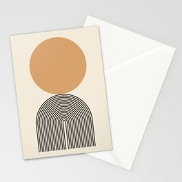 Abstraction_SUNRISE_SUNSET_BOHEMIAN_LINE_POP_ART_M0208A Stationery Cards