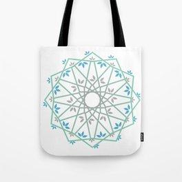 Decorative leaf Mandala Tote Bag