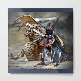 Battling the Dragon Metal Print