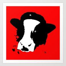Cowmmunist! Art Print