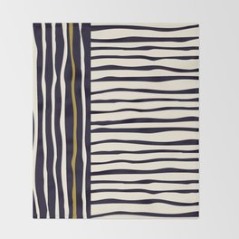 Zebra style animal print pattern Throw Blanket