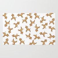 giraffes Area & Throw Rugs featuring Giraffes! by Kashidoodles Creations