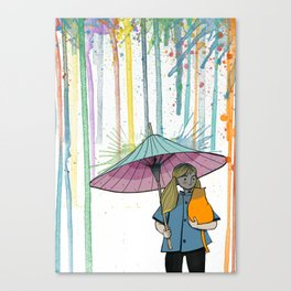 Raining April Canvas Print