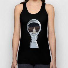 hand with reflecting space Unisex Tank Top