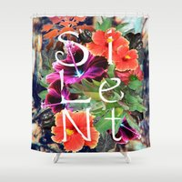 silent Shower Curtains featuring Silent by tomthebigbear