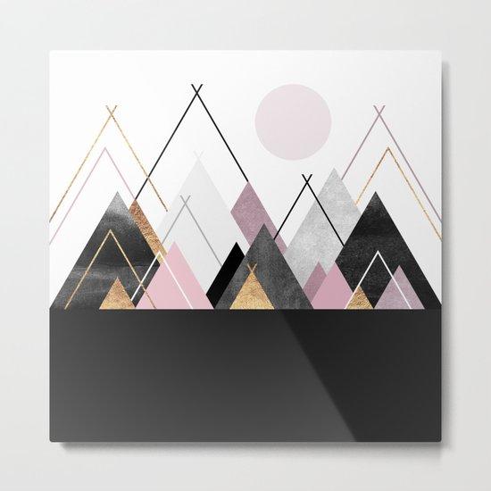 Nordic Mountains Metal Print