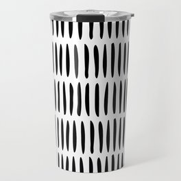 Classy Handpainted Stripes Pattern, Scandinavian Design Travel Mug