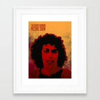 rocky horror picture show Framed Art Prints featuring The Rocky Horror Picture Show by Rabassa