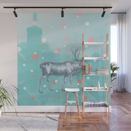 Rudolf on the roof Wall Mural