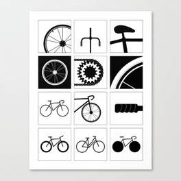 Bicycle Illustrations Canvas Print