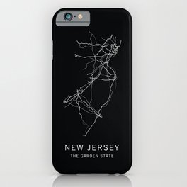 New Jersey State Road Map iPhone Case