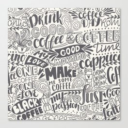 Drink coffee pattern Canvas Print