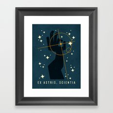 Ex Astris, Scientia Framed Art Print