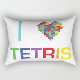 I heart Tetris Rectangular Pillow