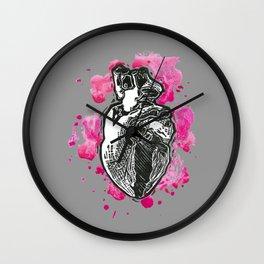 heart me grey Wall Clock