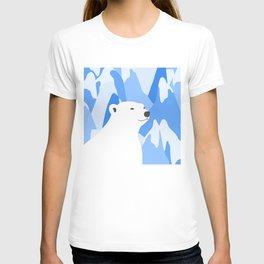 Polar Bear In The Cold Design T-shirt