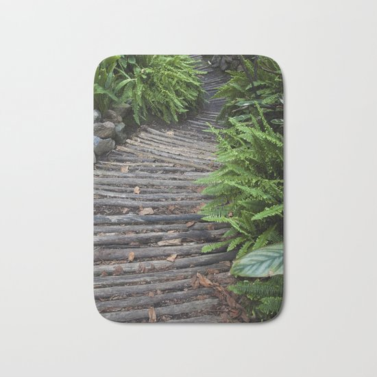Road in the forest Bath Mat