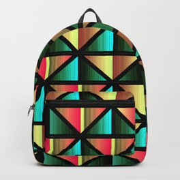 Emerald triangles Backpack