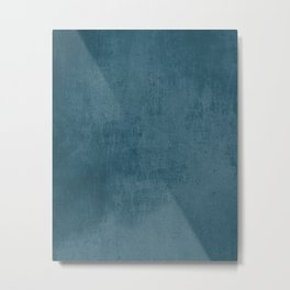 Blue rustic Metal Print