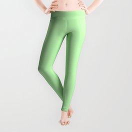 Solid Light Jade Green Color Leggings