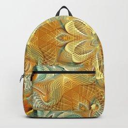 Flower Of Life Mandala (Golden Touch) Backpack