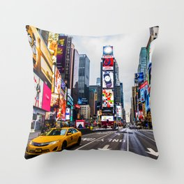 First light in Times Square Throw Pillow