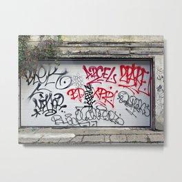 Urban Scrawl Metal Print