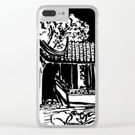 Chinese Garden Clear iPhone Case