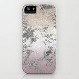 Pink and grey abstract pattern iPhone Case
