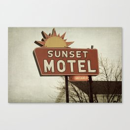 Sunset Motel Canvas Print