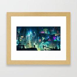 Cyberpunk City Framed Art Print