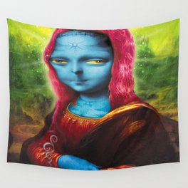Blue Mona Wall Tapestry
