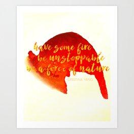 Grey's Anatomy /// Have Some Fire /// Cristina Yang /// Greys Anatomy Art Print