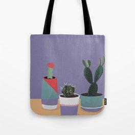 cacti colorblock Tote Bag