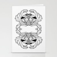 crab Stationery Cards featuring Crab by dieanderwolf