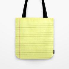 Yellow Legal Pad Tote Bag