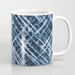Criss Cross Watercolor Stripes Coffee Mug