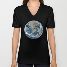 Planet Earth from Space Unisex V-Neck