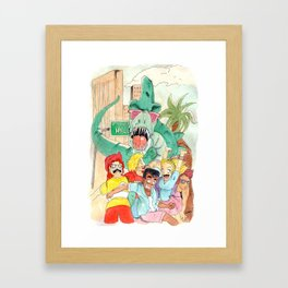 Denver l'affamé dinosaure / Denver the hungry dinosaur Framed Art Print