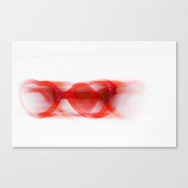 Heart-Shaped Glasses Canvas Print